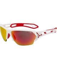 Cebe S-track grande opaco occhiali da sole rossi bianchi