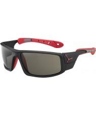 Cebe Ice 8000 opaco occhiali da sole di picco nero rosso variochrom