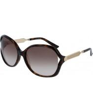 Gucci Donna gg0076s occhiali da sole d'oro avana