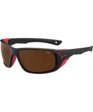 Cebe Jorasses grandi nero opaco rosso 2000 marrone specchiato gli occhiali da sole