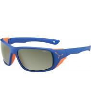 Cebe Jorasses grande opaco blu arancio specchio variochrom picco Flash occhiali da sole