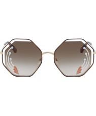 Chloe Signore ce132sri 258 58 occhiali da sole di papavero