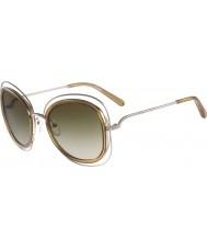 Chloe Donna ce123s Carlina occhiali da sole d'oro lucido