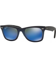 RayBan RB2140 50 Wayfarer originale alto gradiente di blu su blu 120368 occhiali da sole a specchio blu chiaro
