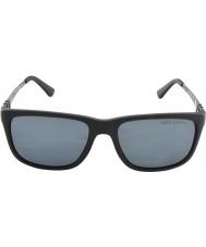 Polo Ralph Lauren Ph4088 55 opaco grigio nero 528481 occhiali da sole polarizzati