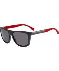 HUGO BOSS capo Mens 0834-s HWS 3h grigio occhiali da sole polarizzati rosso scuro