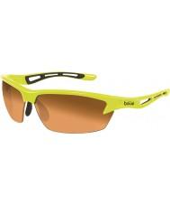 Bolle Bolt neon occhiali da sole color ambra gialla modulatore