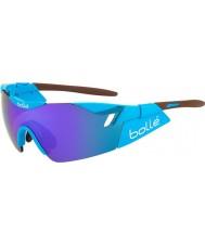 Bolle 6 ° Senso AG2R occhiali da sole blu-viola marrone lucido