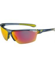 Cebe Cinetik grande opaco blu traslucido occhiali da sole