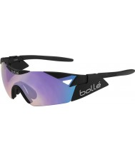 Bolle 6 ° Senso s opachi occhiali da sole blu-violetto nero
