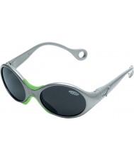 Cebe 1973 (età 1-3) lucido grigio metallizzato 2000 occhiali da sole grigio