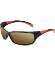 Bolle Velocità nero lucido rosso bolle 100 occhiali da sole di pistola