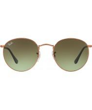RayBan RB3447 53 metallo rotonda occhiali da sole 9002a6 lucido medio di bronzo