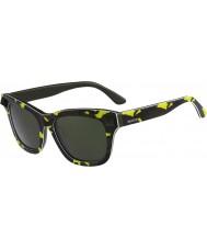 Valentino Donna v670ss giallo fluo dell'esercito occhiali da sole verdi