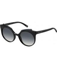 Marc Jacobs Signore marc 105-s D28 9o occhiali da sole neri lucidi