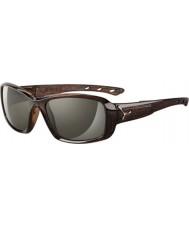 Cebe S-bacio lucidi occhiali da sole marroni savana