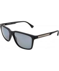 Emporio Armani Ea4047 56 moderni occhiali da sole in gomma nera 506.381 polarizzati