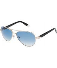Furla Donna su4339s-300 giada lucido oro rosa occhiali a specchio argento