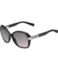 Jimmy Choo Donna Alana-S D28 eu occhiali da sole neri lucidi