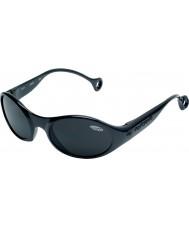 Cebe 1977 (età 3-5) lucido nero lucido 2000 occhiali da sole grigio