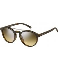 Marc Jacobs occhiali da sole a specchio argento Marc 107-s n9p gg opaco avana