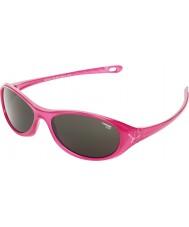 Cebe Gecko (età 5-7) rosa lucido traslucido 2000 occhiali da sole grigio