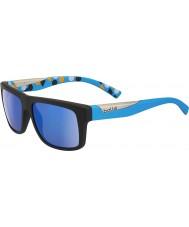 Bolle Clint nero opaco blu polarizzata GB-10 occhiali da sole