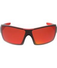 Bolle lucidi occhiali da sole di fuoco TNS rosso nero Diamondback