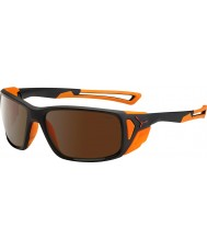 Cebe Proguide opaco arancio nero 2000 occhiali da sole a specchio marrone in flash