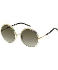 Marc Jacobs Donne marc 11-s APQ ettari oro occhiali da sole scuri avana