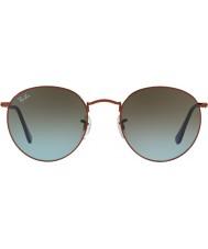 RayBan RB3447 53 tondo in metallo lucido bronzo scuro 900396 occhiali da sole