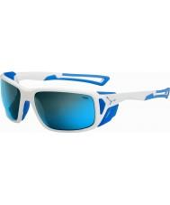Cebe Proguide lucido bianco blu 4000 grigio minerali blu occhiali da sole