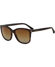 Emporio Armani Ea4060 56 per il tempo libero essenziale avana 5026t5 occhiali da sole polarizzati