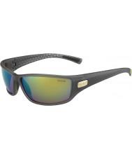 Bolle Python fumo opaco verde smeraldo occhiali da sole marroni polarizzati