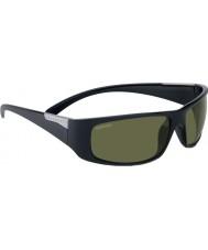 Serengeti Fasano raso lucido occhiali da sole neri polarizzati phd 555nm