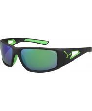 Cebe Sessione nero verde 1500 grigio specchio occhiali da sole verde