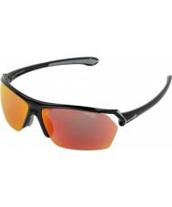 Cebe occhiali da sole lucenti selvaggio multistrato nero