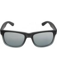 RayBan RB4165 55 justin grigio gomma 852-88 gli occhiali da sole