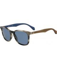HUGO BOSS Uomo capo 0843-s IWF 9a corno occhiali da sole blu marroni