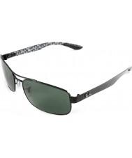 RayBan Rb8316 62 tecnologia in fibra di carbonio nero verde occhiali da sole polarizzati 002-n5
