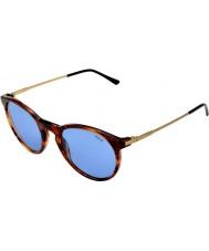 Polo Ralph Lauren Ph4096 50 classico stile a strisce havana 500772 occhiali da sole