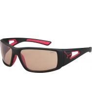 Cebe Sessione opaco occhiali da sole Perfo nero rosso variochrom