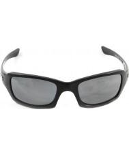 Oakley Oo9238-06 cinque quadrati lucido nero - black iridium occhiali da sole polarizzati