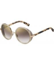 Jimmy Choo Donna andie-S J7A NH oro nudo occhiali da sole a specchio oro avana
