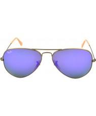 RayBan RB3025 58 aviatore di grandi dimensioni in metallo spazzolato occhiali da sole in bronzo 167-1m
