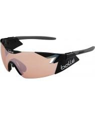 Bolle 6 ° Senso lucido modulatore rosa nera occhiali da sole di pistola