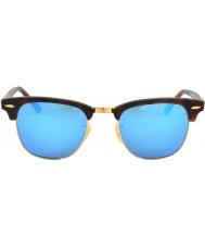RayBan Rb3016 tartaruga di sabbia del clubmaster - specchio blu