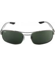 RayBan Rb8316 62 tecnologia in fibra di carbonio canna di fucile verde 004 occhiali da sole