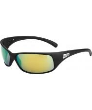 Bolle Recoil nero opaco occhiali da sole polarizzati smeraldo marrone