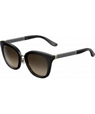 Jimmy Choo Signore occhiali da sole scintillanti nero J6 FA3 Fabry-s